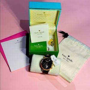 kate spade Black and Rose Gold Hybrid Smartwatch